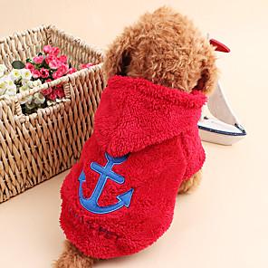 ieftine Imbracaminte & Accesorii Căței-Pisici Câine Hanorace cu Glugă Îmbrăcăminte Câini Marinar Trandafiriu Rosu Albastru Catifea cord Costume Pentru Primăvara & toamnă Iarnă Bărbați Pentru femei Keep Warm