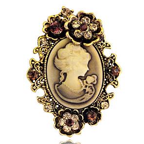 Χαμηλού Κόστους Καρφίτσες-Γυναικεία Καρφίτσες Χαραγμένο Victorian Βίντατζ 1920s Elizabeth Locke Καρφίτσα Κοσμήματα Χρυσαφί Ασημί Για Πάρτι Καθημερινά Causal Μασκάρεμα Χοροεσπερίδα