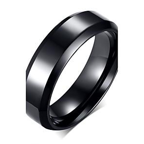 ieftine Inele-Bărbați Band Ring Negru Teak Oțel titan Modă Petrecere Zilnic Bijuterii / Casual