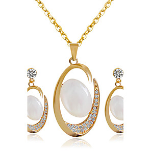 ieftine Seturi de Bijuterii-Pentru femei Seturi de bijuterii de mireasă cercei Bijuterii Auriu Pentru Nuntă Petrecere / Cercei / Coliere
