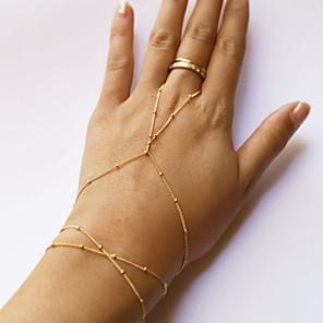 ieftine Bijuterii de Păr-Pentru femei Ring Bracelets Ștrasuri Ieftin Sclavii de aur femei stil minimalist Modă Cute Stil Aliaj Bijuterii brățară Auriu Pentru Zilnic Casual