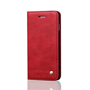ieftine Imbracaminte & Accesorii Căței-Maska Pentru Apple iPhone 8 Plus / iPhone 8 / iPhone 6s Plus Portofel / Titluar Card / Anti Șoc Carcasă Telefon Mată Greu Piele autentică