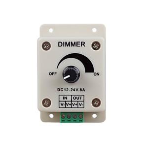 ieftine Întrerupătoare & Prize-zdm 1pc dc12-24v 8amp 0% -100% controler monocrom de diminuare pentru lumini sau panglică cu led
