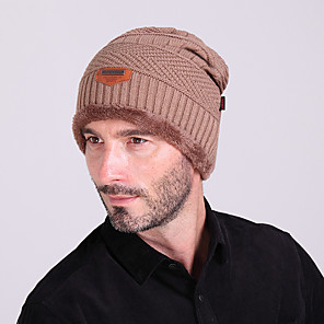 ieftine Îmbrăcăminte de Drumeții-Schi Pălării Bărbați / Pentru femei Keep Warm Snowboard Lână Culoare solidă Sporturi de Iarnă