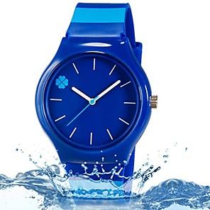 ieftine Cuarț ceasuri-Ceas de Mână Quartz Albastru Cool Plin de Culoare Analog Frunze Prăjit Casual Linii Modă - Albastru Închis