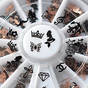 ieftine Îngrijire Unghii-1 pcs Bijuterie unghii #D nail art pedichiura si manichiura Simplu / Finisaj metalic / Unghiul de bijuterii / Aliaj