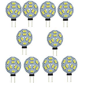 ieftine Becuri LED Bi-pin-10pcs 1.5 W Becuri LED Bi-pin 150-200 lm G4 T 9 LED-uri de margele SMD 5730 Decorativ Alb Cald Alb Rece 12 V / 10 bc / RoHs
