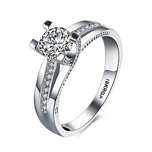ieftine Inele-Pentru femei Band Ring Inel de declarație Belle Ring Diamant Zirconiu Cubic Alb Pietre sintetice Plastic Zirconiu femei Modă de Mireasă Nuntă Petrecere Bijuterii Rundă simulat Inimă Iubire