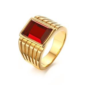 ieftine Inele-Bărbați Band Ring degetul mare Auriu Teak Ștras Placat Auriu femei Personalizat Asiatic Petrecere Zilnic Bijuterii / Diamante Artificiale