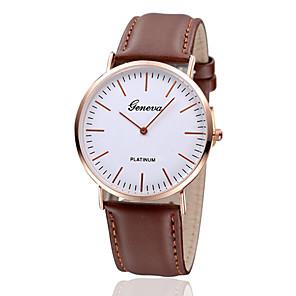 ieftine Cuarț ceasuri-Pentru femei Ceas de Mână Quartz femei Ceas Casual Piele Negru / Maro Analog - Negru Maro Un an Durată de Viaţă Baterie / Jinli 377