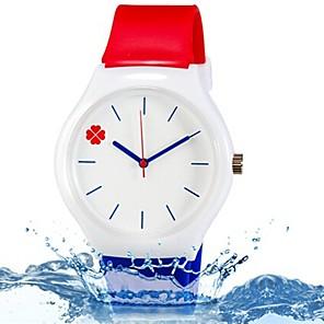 povoljno Ženski satovi-Ručni satovi s mehanizmom za navijanje Kvarc Silikon Plava / Crvena Cool Šarene Analog dame Listići Prženje Ležerne prilike Moda - Duga