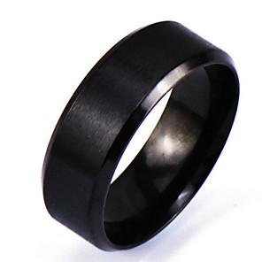 ieftine Bijuterii Bărbați-Bărbați Band Ring Negru Aliaj Circle Shape Personalizat Punk Rock Cadouri de Crăciun Zilnic Bijuterii