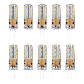 ieftine Becuri LED Corn-10pcs 1 W Becuri LED Bi-pin 460 lm G4 Tub 24 LED-uri de margele SMD 3014 Decorativ Alb Cald Alb Rece 12 V / 10 bc / RoHs