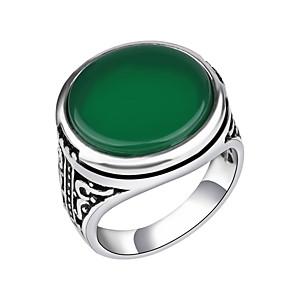 ieftine Inele-Bărbați Inel de declarație Resin Negru Verde Rosu Aliaj Vintage Modă Militar Nuntă Zilnic Bijuterii