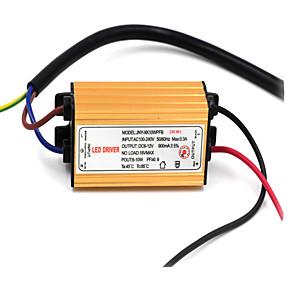 ราคาถูก ไดรเวอร์ LED-85-265 V Waterproof อะลูมิเนียม แหล่งที่มาของหลอดไฟLED 10 W