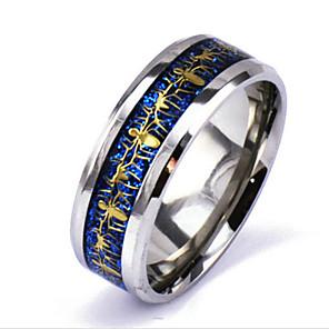 povoljno Prstenje-Muškarci Band Ring Prstenovi za utore Srebro Legura Punk Rock Božićni pokloni Dnevno Jewelry