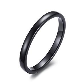 ieftine Inele-Bărbați Band Ring degetul mare Negru Oțel Tungsten femei Modă Nuntă Petrecere Bijuterii