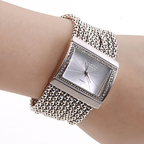 ieftine Ceasuri Brățară-Pentru femei Ceasuri de lux Ceas Brățară ceas de aur Quartz femei imitație de diamant Cupru Auriu Analog - Auriu Argintiu Un an Durată de Viaţă Baterie / Oțel inoxidabil / Japoneză / Japoneză