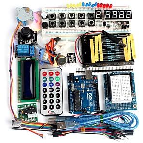 voordelige Moederborden-funduino geavanceerde starter kit lcd servomotor dot matrix broodplank geleid basiselement pak compatibel voor Arduino