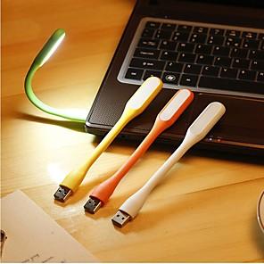 Недорогие Украшения для мобильных телефонов-Лампа для чтения LED Простой Работает от USB Назначение Спальня / В помещении