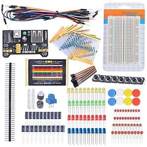 abordables Gadgets & Ustensiles de Cuisine-kit de démarrage débutant condensateur de résistance de câble breadboard potentiomètre conduit pour le kit d'apprentissage arduino