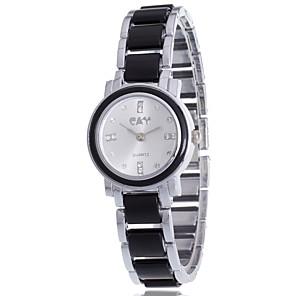 ieftine Ceasuri Damă-Pentru femei Ceas Brățară Simulat Diamant Ceas Diamond Watch Quartz Negru / Alb Ceas Casual / Analog femei Charm Casual Boem Modă - Alb Negru