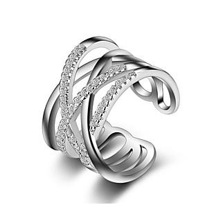 ieftine Inele-Pentru femei Band Ring Inel inel de înfășurare Cristal Diamant sintetic Auriu Argintiu Aur roz Plastic Diamante Artificiale femei Neobijnuit Design Unic Nuntă Petrecere Bijuterii Crossover X prsten