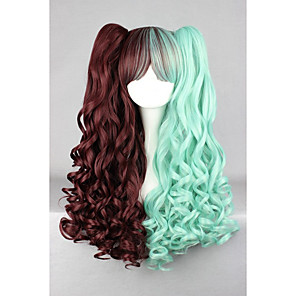 cheap Bakeware-Synthetic Wig Cosplay Wig Wavy Wavy Wig Green Synthetic Hair Women's Braided Wig African Braids Green hairjoy
