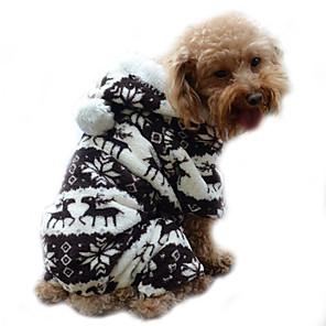 ieftine Imbracaminte & Accesorii Căței-Câine Haine Hanorace cu Glugă Salopete Iarnă Îmbrăcăminte Câini Albastru Roz Gri Costume Catifea cord Ren Keep Warm S M L XL XXL