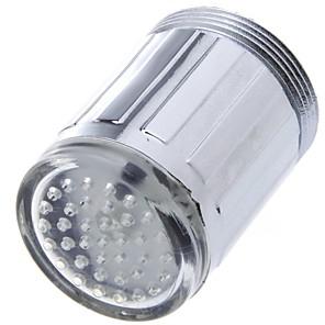 ieftine Robinete-led robinet de apă lumina albastru strălucire duș cap de bucătărie tapet aeratoare