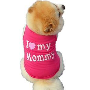 ieftine Îngrijire Unghii-Pisici Câine Tricou Γιλέκο Iarnă Îmbrăcăminte Câini Negru Trandafiriu Costume Bumbac Literă & Număr Gril pe Kamado Nuntă Casul / Zilnic XS S M L