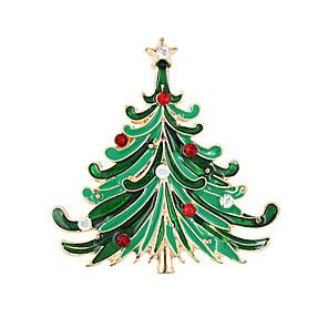 ieftine Ustensile & Gadget-uri de Copt-Pentru femei Broșe femei Modă Crăciun Broșă Bijuterii Verde Pentru Petrecere Ocazie specială Zi de Naștere Cadou Zilnic Casual