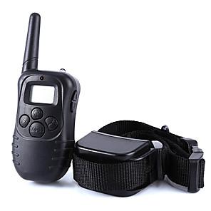 ieftine Câini Articole şi Îngrijire-Câine coaja Guler Lese Antrenament Câini anti-Scoarță LCD Telecomandă Mată Plastic Negru