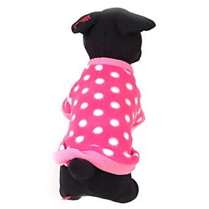 povoljno Odjeća za psa i dodaci-Pas Puloveri Na točkice Ležerno / za svaki dan Ugrijati Zima Odjeća za psa Rose Kostim Flis XS S M L