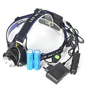 economico Lampade-Torce frontali Fanale anteriore 5000 lm LED LED emettitori 1 Modalità di illuminazione Angolare Ultraleggero Campeggio / Escursionismo / Speleologia Ciclismo Caccia Regno Unito AU EU Stati Uniti
