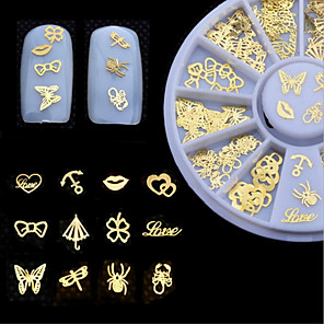 ieftine Imbracaminte & Accesorii Căței-1 pcs Bijuterie unghii nail art pedichiura si manichiura Zilnic Glitters / Metalic / Modă / Unghiul de bijuterii