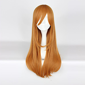cheap Cosplay Wigs-Love Live Cosplay Cosplay Wigs Men's Women's 30 inch Heat Resistant Fiber Orange Anime