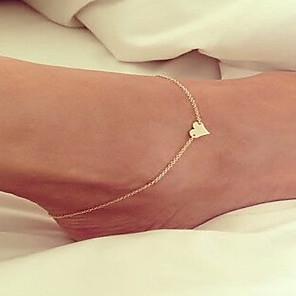 ieftine Gadget-uri De Glume-Brățară Gleznă picioare bijuterii Plin de graţie femei Simplu Pentru femei Bijuterii de corp Pentru Nuntă Aliaj Iubire Ieftin Auriu Argintiu