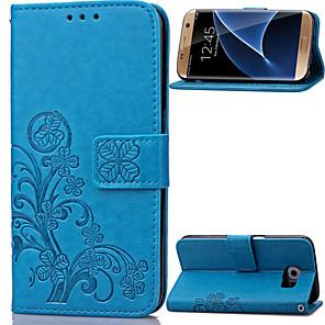 ieftine Broșe-Maska Pentru Samsung Galaxy S8 Plus / S8 / S7 edge Portofel / Titluar Card / Cu Stand Carcasă Telefon Floare PU piele