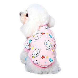 ieftine Îngrijire Unghii-Pisici Câine Tricou Pijamale Îmbrăcăminte Câini Albastru-Galben Roz perlat Galben Costume Bumbac Desene Animate Casul / Zilnic XS S M L XL