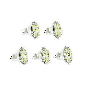 ieftine Colier la Modă-5pcs 3 W Bec Filet LED 250-300 lm GU4(MR11) 12 LED-uri de margele SMD 5730 Alb Cald Alb Rece 12 V / 5 bc