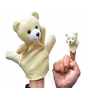 ieftine Păpuși-Păpuși de Degete Păpuși de mână Ursuleț Novelty Pluș Joc imaginar, ciorapi, daruri de mare aniversare Băieți Fete