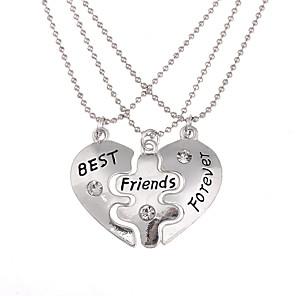 ieftine Colier la Modă-Bărbați Pentru femei Pandative Lănțișor Gravat Inimă frântă Inimă Iubire viață copac Cei mai buni prieteni Prietenie Personalizat Stil Atârnat Boem European Aliaj Argintiu Coliere Bijuterii Pentru