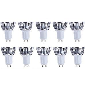 ieftine Spoturi LED-5 W Spoturi LED 3000/6500 lm GU10 4 LED-uri de margele COB Intensitate Luminoasă Reglabilă Alb Cald Alb 220-240 V 110-130 V / 10 bc / RoHs