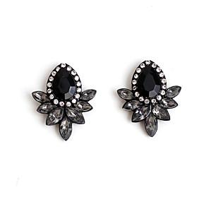 ieftine buze-Pentru femei Zirconiu Cubic Cercei Stud femei Zirconiu cercei Bijuterii Negru Pentru Zilnic Casual