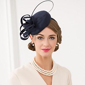 ieftine Bijuterii de Păr-Lână / Pană Kentucky Derby Hat / Palarioare / Palarie cu Floral 1 buc Nuntă / Ocazie specială / Casual Diadema
