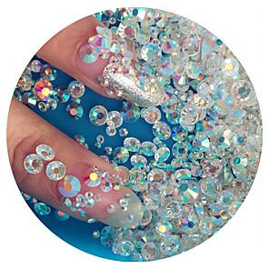 levne Motýlky-1440pcs Sada na nehty Ozdoby na nehty Imitace drahokamů Pro nail art manikúra pedikúra Denní Glittery / Svatba / Módní / Nehtové šperky