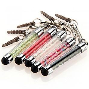 ieftine Decorațiuni Mobil-szkinston 5 mini stylus de cristal touch screen pen anti-praf stilou capacitate mufă pentru iPhone / iPod / iPad / Samsung și alte
