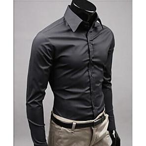 ieftine Blazer & Costume de Bărbați-Bărbați Cămașă Muncă Afacere / Șic Stradă - Mată Galben / Manșon Lung / Zvelt