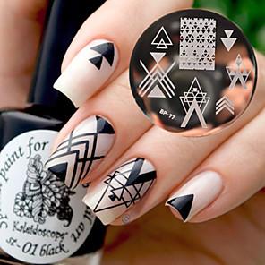 ieftine Gadget-uri De Glume-1 pcs Ștampila de ștanțare Format nail art pedichiura si manichiura Modă Zilnic / ștampilare Placă / Oțel